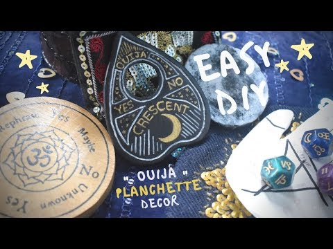 🌟Easy DIY Ouija Planchette Decor 🌠 [Witchy Inspired Crafts]