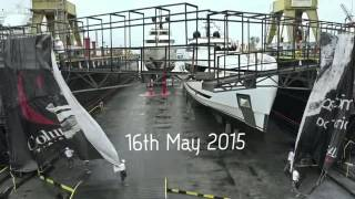 Double Super Yacht Launch at Columbus Yachts