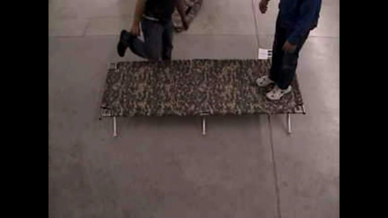 Davis tent camping cot made in the usa youtube dailygadgetfo Choice Image