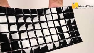 Glass Mosaic Tile Backsplash Black 1x1 - 101CHIGLABR101
