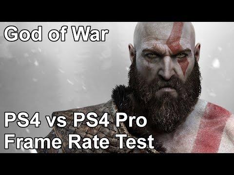 God of War PS4 vs PS4 Pro Frame Rate Test