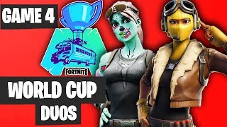 Fortnite World Cup DUO Game 4 Highlights [Fortnite World Cup Highlights]