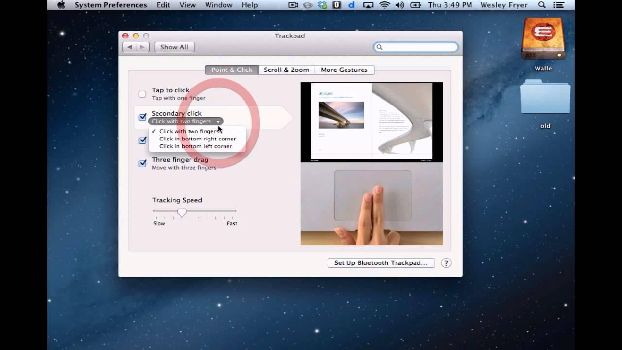 Configure Mac Trackpad Right Click (Secondary Click)