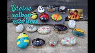 DIY | Steine aus Knetbeton selber machen | Steine bemalen | Glückssteine | Bastelanleitung