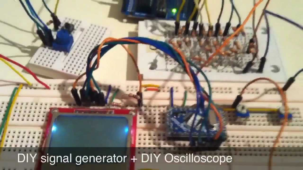 Diy Function Generator Arduino Home Design Mini Ir Theremin Schematic Pyroelectro News Projects R 2r Dac Signal Oscilloscope