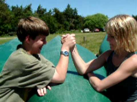 Arm Wrestling At Camp Youtube