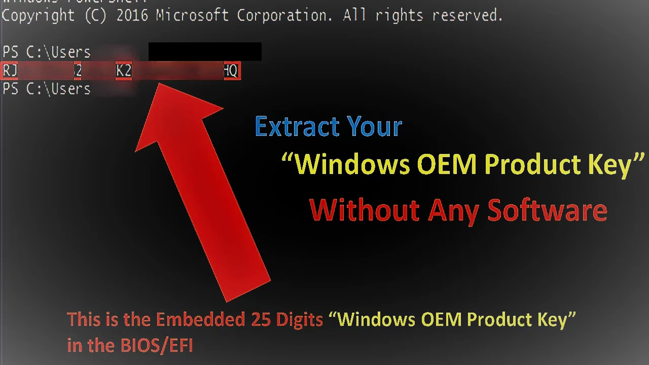 How To Extract OEM (PRE-INSTALLED) Product Key From BIOS Without Any  Software (EASY WAY)