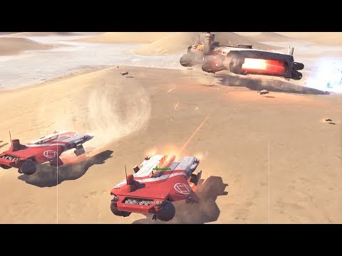 I Use Hovercraft Technology To Hunt Down Aircraft Carriers In Homeworld Deserts Of Kharak