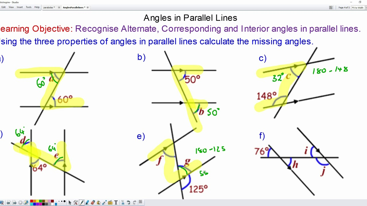 medium resolution of Angles in Parallel Lines - Mr-Mathematics.com