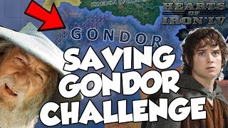 Trying To Save Middle Earth as Gondor Challenge Hearts Of Iron 4 HOI4 Lord of the Rings Mod