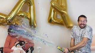 BABY NAME ANNOUNCEMENT! (Confetti Gun GONE WRONG)