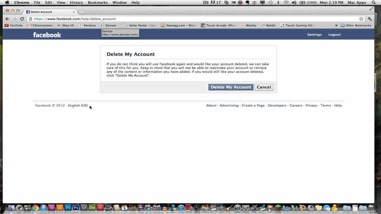 How to delete your facebook account in 2012 step by step youtube how to delete your facebook account in 2012 step by step ccuart Gallery