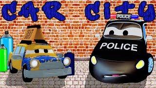La Super Patrulla: Camión de Bomberos y Patrulla de Policía en El ladrón de las Pinturas eAuto City