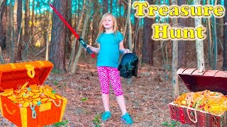 ASSISTANT TREASURE HUNT Real Life Hero Treasure Hunt with Surprise Eggs Video