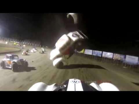 INEX Legend Car Crash - River Cities Speedway
