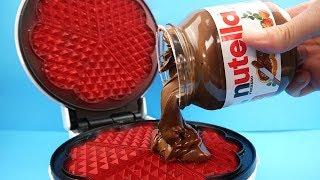 Experimente - Was passiert mit Nutella im Waffeleisen?