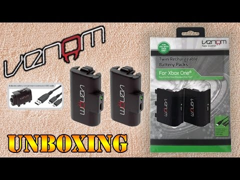 VENOM: Twin Rechargeable Battery Packs For XBOX ONE - UNBOXING
