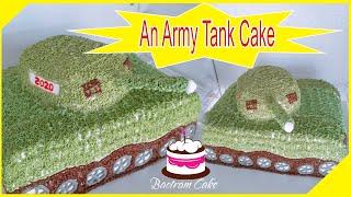 Hướng dẫn làm bánh kem xe tăng│How to make 3d an army tank cake