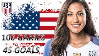 Christen Press | All 45 Goals for USA | 100 Games 2013 - 2018