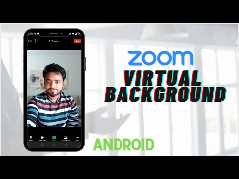 How To Set Zoom Virtual Background On Android Youtube