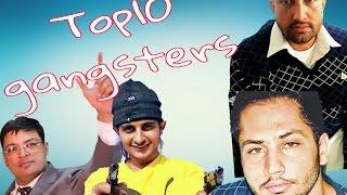 Top 10 gangsters of punjab |vicky gounder|sukha kahlon | lawrence bishnoi|rocky|jaipal|gandhi gang