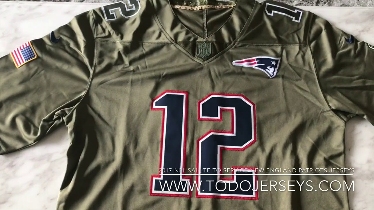 the best attitude 012b6 67a90 2017 salute to service New England patriots #12 Tom Brady jerseys