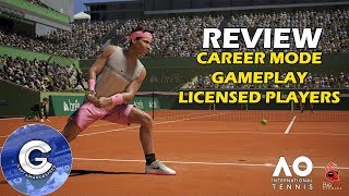 AO International Tennis Review | CAREER MODE/GAMEPLAY | First Look & First Impressions