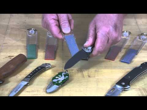 Video of Diamond Mini-Sharp® Sharpener – Sharpening a Sport Knife