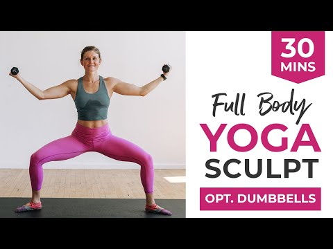 30-Minute YOGA SCULPT | Full Body Workout (Weights Optional)