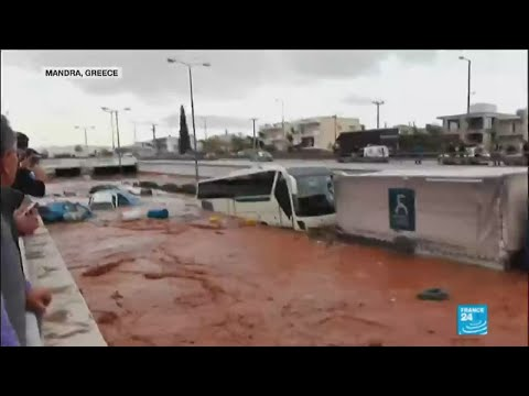 Greece Floods: National day of mourning after deadly floods