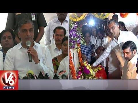Ministers Harish Rao And Jagadish Reddy Releases Water From Nagarjuna Sagar   Nalgonda   V6 News