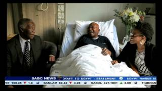 Thabo Mbeki visited Desmond Tutu at a Cape Town hospital today
