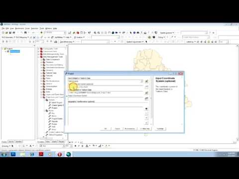 Change Projection   Coordinate System in ArcMap