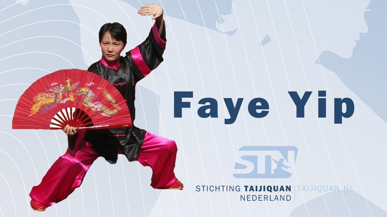 0706f819c Tai Chi Kung Fu Fan - Xi Yang Mei - by Master Faye Yip from professor Li  Deyin demonstration