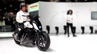 Мотоцикл с автобалансом и автопилотом от Honda