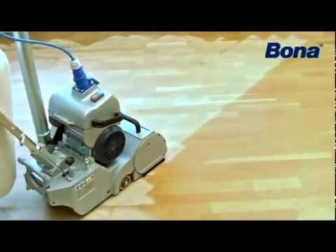 Como lijar su piso de madera con maquinas bona youtube - Como limpiar la madera ...