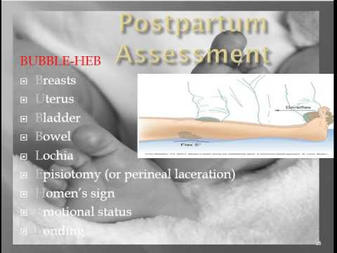 The Post Partum period Chapters 18,19, & 20