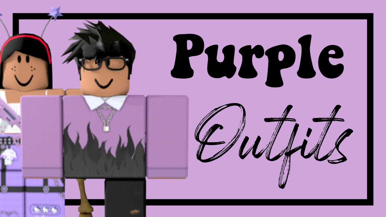 Purple Clothing Codes Roblox Aesthetic Purple Outfits Roblox Youtube