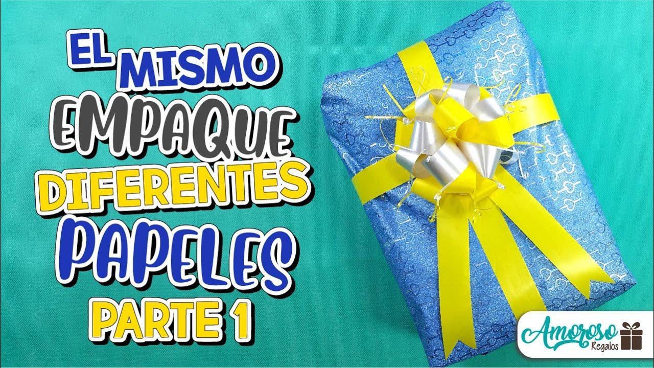 EMPACA EL MISMO REGALO CON DIFERENTES TIPOS DE PAPEL PARTE 1   EMPAQUES FACILES   Amoroso Regalos