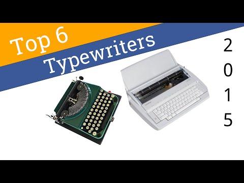 6 Best Typewriters 2015