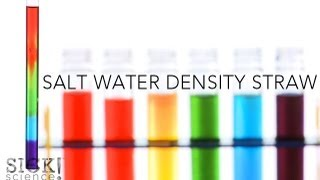 Salt Water Density Straw - Sick Science! #140