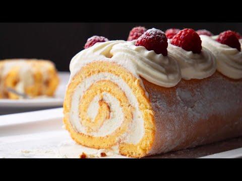 Easiest Swiss Roll Recipe   Basic Vanilla Swiss Roll