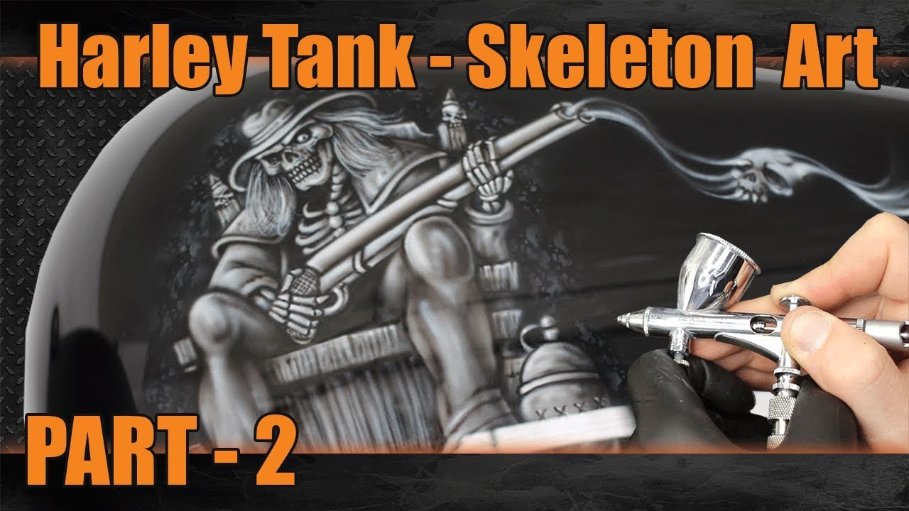 Airbrush Step By Skeleton On A Rocking Chair Part 2