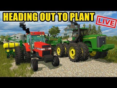 RUSHING TO GET PLANTING DONE! RUNNING BOTH JOHN DEERE & CASE    EP #32   FARMING SIMULATOR 2017