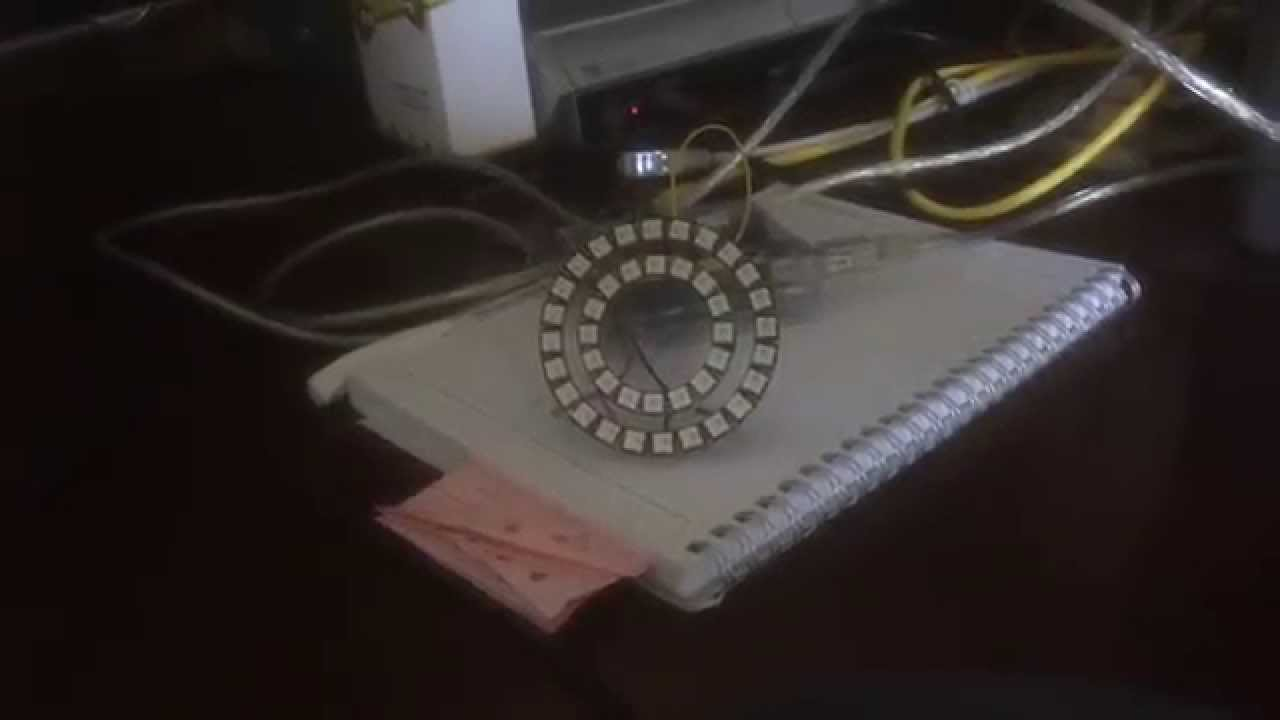 Arduino Uno and Neopixel 24 LED Ring, part 4  YouTube -> Wandleuchte Led Ring