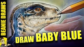 How to Draw Baby Blue!  Jurassic World Fallen Kingdom Drawing Tutorial