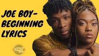Joeboy - beginning (Lyrics)