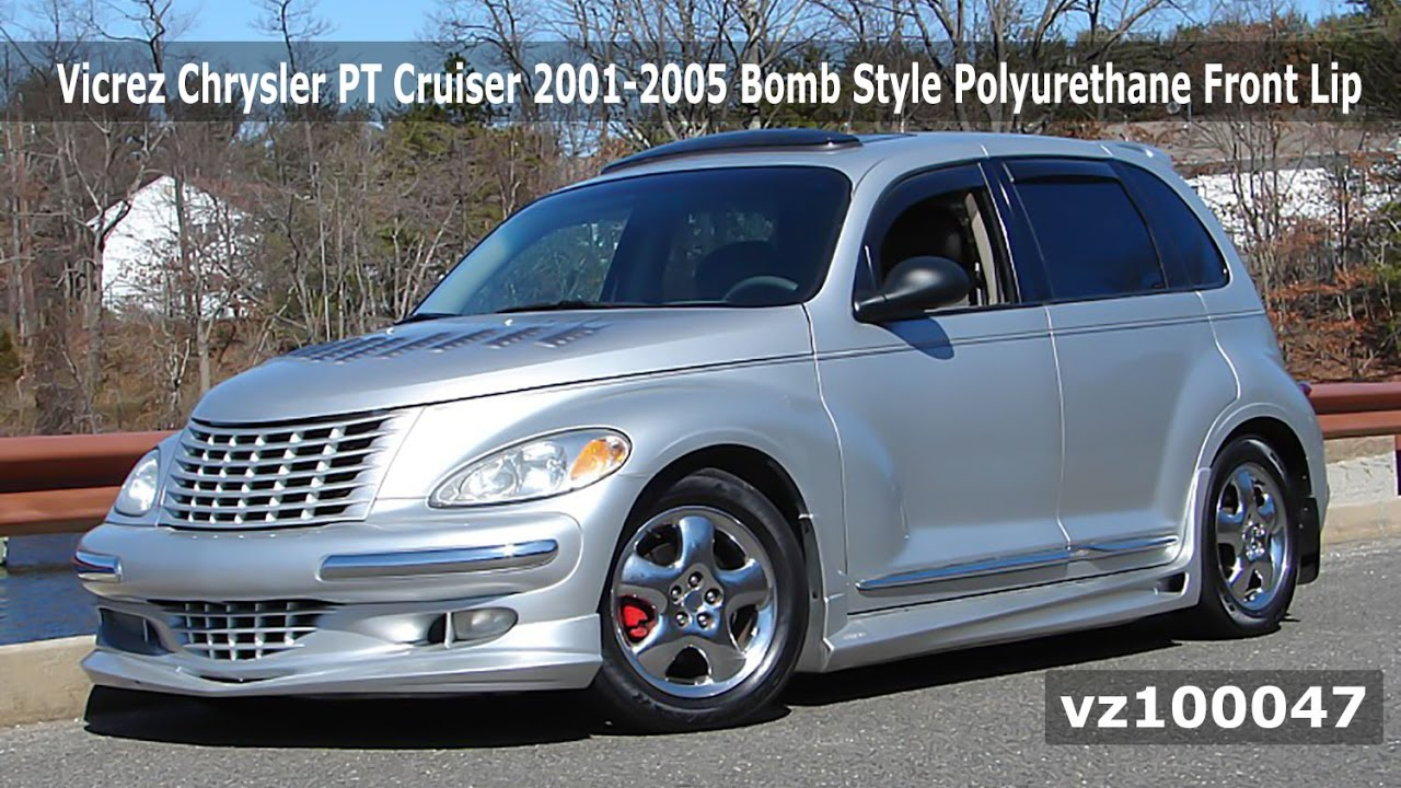 Vicrez Chrysler Pt Cruiser 2001 2005 Bomb Style Front Lip Vz100047