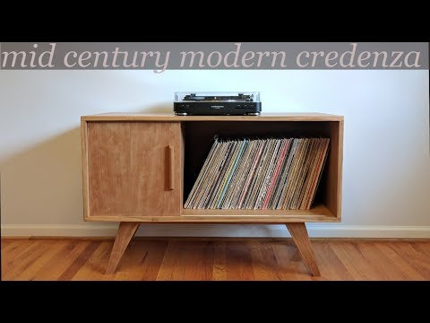 Building a mid century modern style credenza/record cabinet