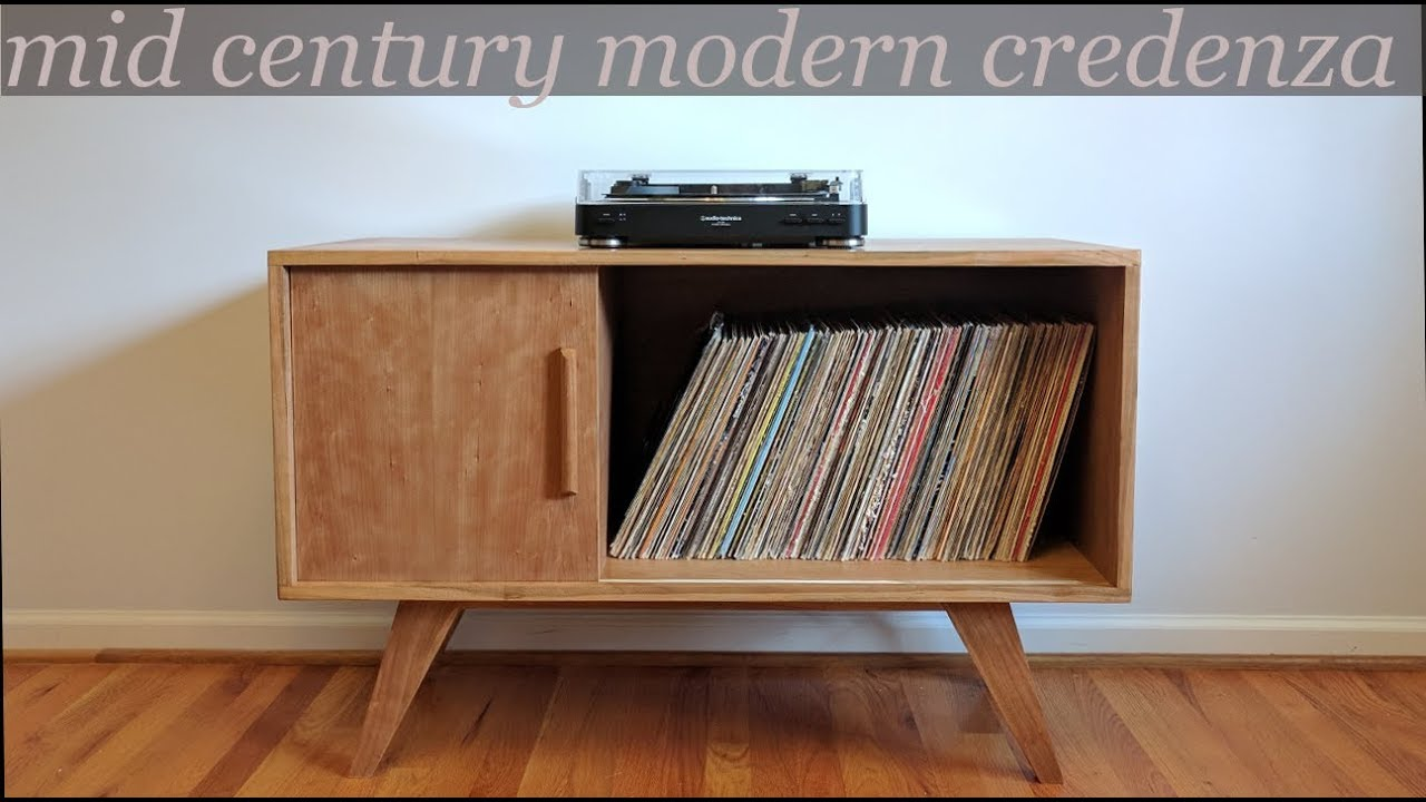 Building a mid century modern style credenza/record ...